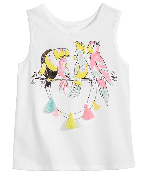 Epic Threads Toddler Girls Tassel-Trim Tank Top, Created for Macy's
