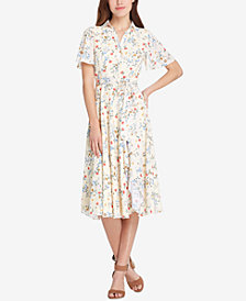 Tahari ASL Floral-Print Wrap Dress