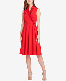 Tahari ASL Ruffled Surplice Dress