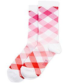 HUE® Women's Gingham Argyle Socks