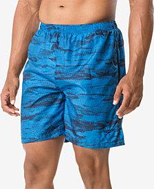 "Speedo Men's Halftone Tide Tech Printed 7.5"" Swim Trunks"