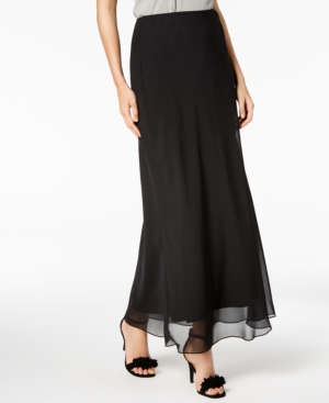 1920s Skirts, Gatsby Skirts, Vintage Pleated Skirts Alex Evenings Petite Maxi Skirt $75.00 AT vintagedancer.com