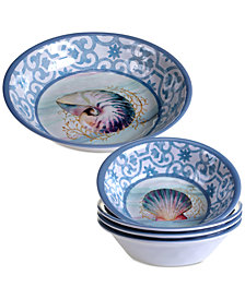 Certified International Ocean Dream Melamine 5-pc. Salad Serving Set