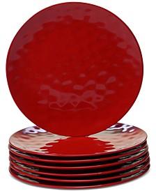 6-Pc. Red Melamine Dinner Plate Set