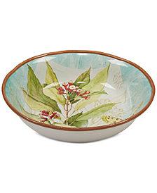 Certified International Herb Blossom Serving Bowl