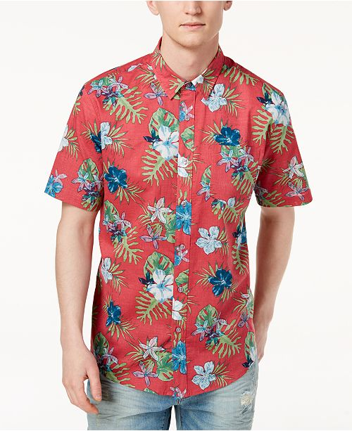 ece15b7461e American Rag Men's Hawaiian Shirt, Created for Macy's & Reviews ...