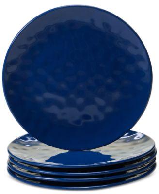 Cobalt Blue Melamine Set of 6 Salad Plates