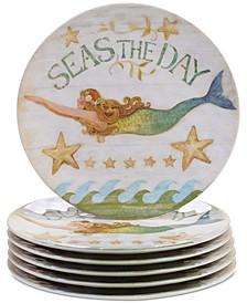 Sea Beauty Set of 6 Dinner Plates