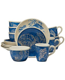 Certified International Seaside Dinnerware, 16-Pc. Set