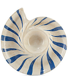 Certified International Seaside 3-D Shell Chip & Dip Plate