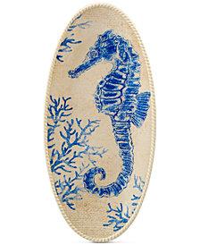 Certified International Seaside Seahorse Platter
