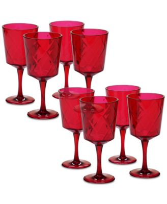 Ruby Diamond Acrylic Set of 8 All-Purpose Goblets
