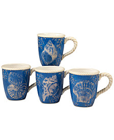 Certified International 4-Pc. Seaside Mugs Set