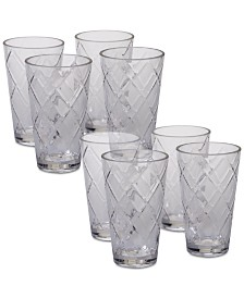 Certified International Clear Diamond Acrylic 8-Pc. Iced Tea Glass Set