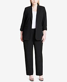 Calvin Klein Plus Size Roll-Tab Blazer
