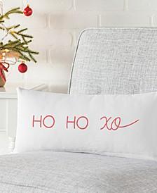 "Ho Ho Xo 18"" x 9"" Lumbar Decorative Pillow"