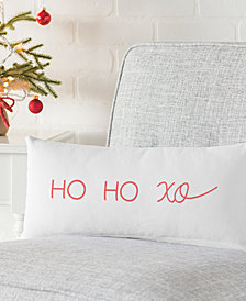 "Cathy's Concepts Ho Ho Xo 18"" x 9"" Lumbar Decorative Pillow"
