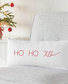 "Cathy's Concepts Ho Ho Xo 18"" x 9"" Lumbar Decorative Pillow"
