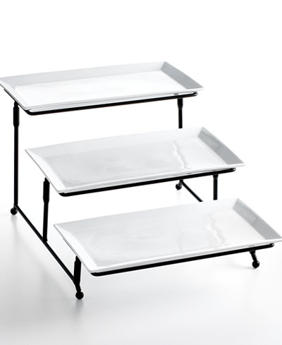 The Cellar Whiteware Serveware 3 Tier Server, Created for Macy's
