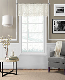 "Elrene Montego 52"" x 15"" Sheer Burnout Window Valance"