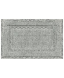 Jean Pierre Cotton Stonewash Racetrack 21x34 Bath Rug
