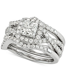 Diamond 3Pc. Bridal Set (2-1/4 ct. t.w.) in 14k White Gold