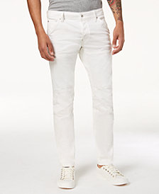 G-Star RAW Men's Slim Fit Stretch White Jeans, Created for Macy's