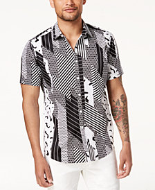I.N.C. Men's Digi Camo-Print Shirt, Created for Macy's
