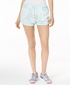 Jessica Simpson TheWarmUp Juniors' Tie-Dye Drawstring Shorts