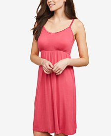Motherhood Maternity Babydoll Clip-Down Nursing Nightgown