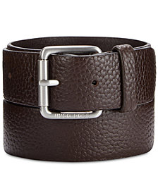 Hugo Boss Men's Pebble Leather Belt