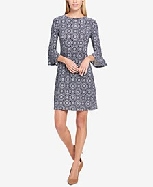 Petite Printed Bell-Sleeve Dress