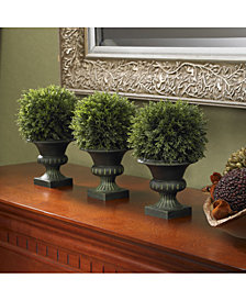 "Nearly Natural 9"" Artificial Cedar Ball Topiaries, Set of 3"