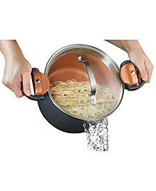 5-Qt. Non-Stick Ti-Ceramic Pasta pot with Built-in Strainer and Twist N' Lock Handles