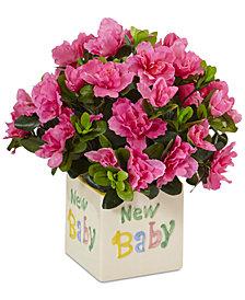 Nearly Natural Azalea Silk New Baby Arrangement