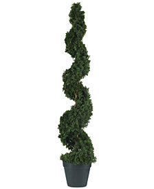 Nearly Natural 4' Cedar Spiral Artificial Tree