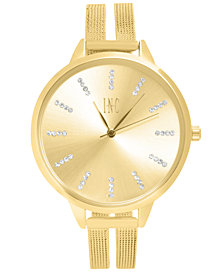 I.N.C. Women's Stainless Steel Mesh Bracelet Watch 38mm, Created for Macy's