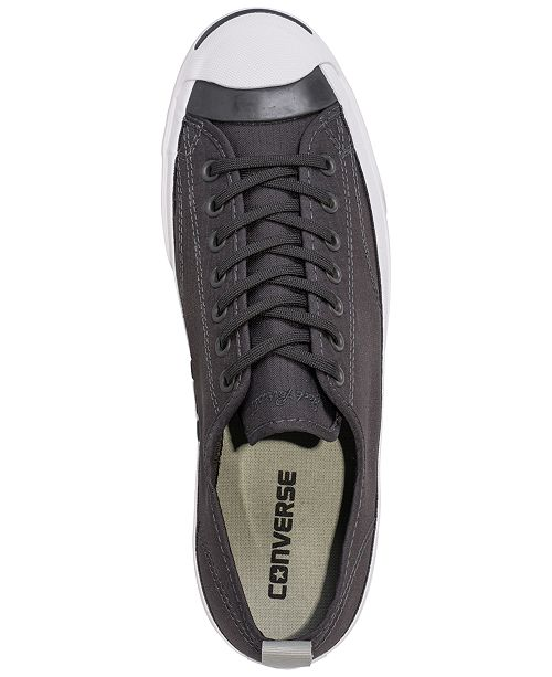 24030bc5969c ... Converse Men s Jack Purcell Low Top Woven Textile Casual Sneakers from  Finish ...