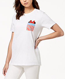 Hybrid Juniors' Minnie Mouse Pocket T-Shirt