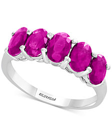 EFFY® Certified Ruby Ring (2-1/8 ct. t.w.) in Sterling Silver