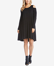 Karen Kane Cold-Shoulder Trapeze Dress