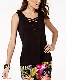 Thalia Sodi Crisscross-Neck Top, Created for Macy's