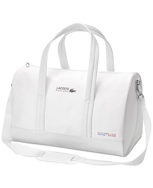 Lacoste Receive a FREE Weekender Bag with any large spray purchase from the Lacoste  Eau de 4eca669f3db64