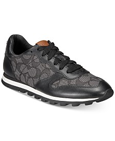 COACH Leather Signature Jogger Sneakers