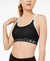 287c2af57e0 Calvin Klein Performance Strappy-Back Low-Impact Sports Bra PFYT2413