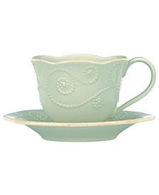 Dinnerware, French Perle Cup and Saucer Set