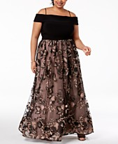 b98f833274074 Morgan   Company Trendy Plus Size Off-The-Shoulder Gown