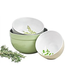 Martha Stewart Collection Farmhouse Collection 3-Pc. Mixing Bowl Set, Created for Macy's
