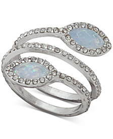 lonna & lilly Pavé & Stone Spiral Ring