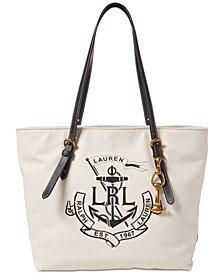 Lauren Ralph Lauren Logo Seabrook Tote